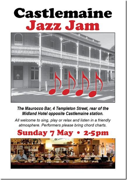 Jazz jam flyer 7 May