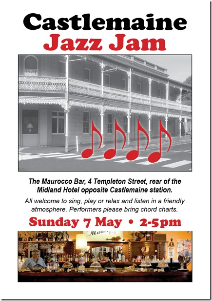 Jazz jam flyer 7 May