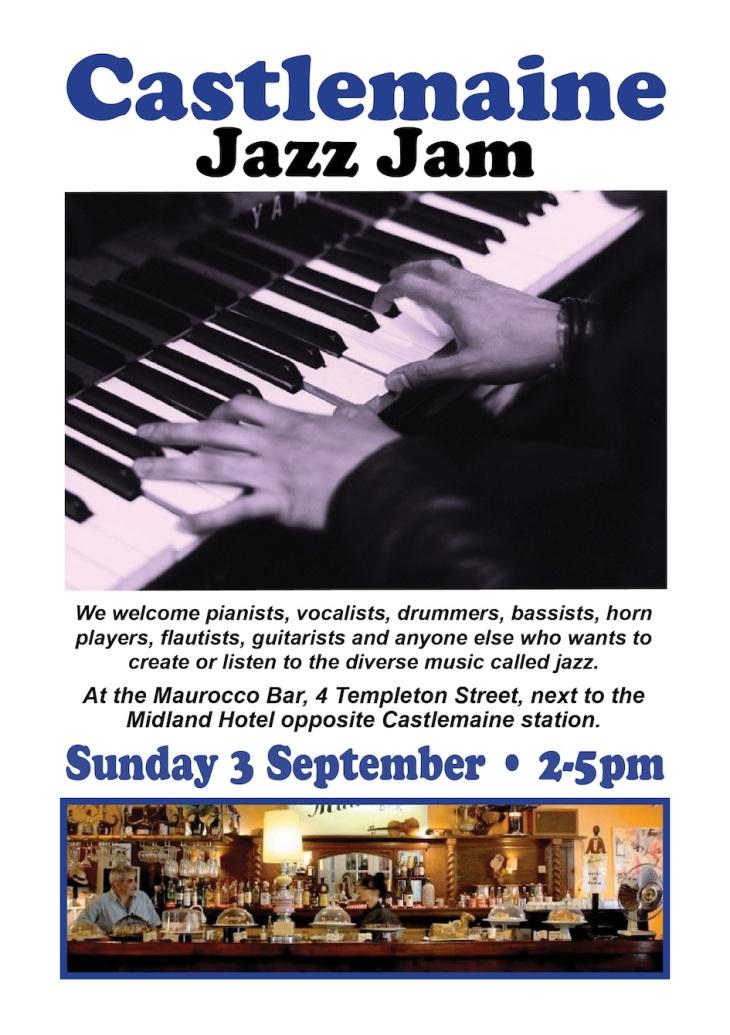 Jazz jam flyer 3 Sept 2017